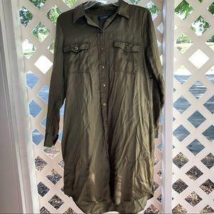 Lauren Ralph Lauren Olive Green Dress Size 12